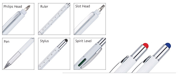 Closeup of stylus pens styles